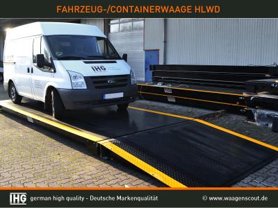 Container- und Fahrzeugwaage IHG-HLWD