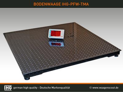 Industriewaage, Bodenwaage, Stahlwaage PFW-TMA