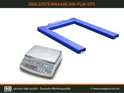 zählsystem mit palettenwaage ihg-plw-cfs